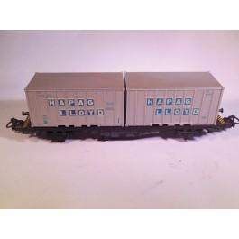 Marklin H0 4659 Containerwagon HAPAG LLOYD