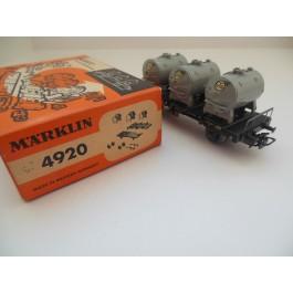 Marklin H0 4920 Containerwagon. Wagon van de DB